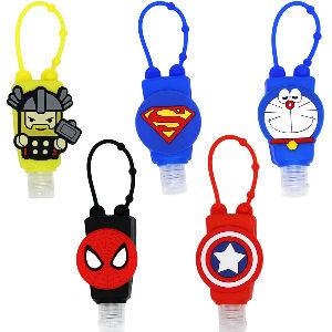 Botellas de superheroes para gel hidroalcoholico, botellas de Thor Superman Spiderman Capitan America y Doraemon