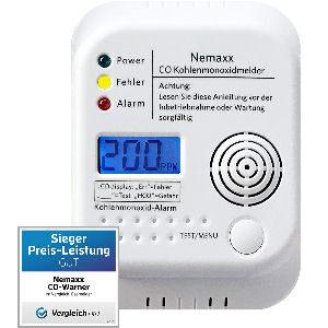 Detector inalámbrico de monóxido de carbono a pilas, normativa EN50291
