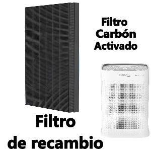 Filtro de carbón activado para purificador de aire Rowenta Pure Air