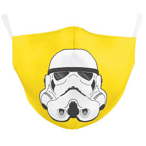 Mascarilla Storm Trooper star wars amarilla