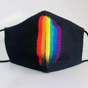 Mascarilla arcoíris lgtbiq+ de tela reutilizables y lavable