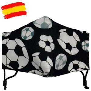 Mascarilla balones de fútbol, mascara de tela homologada UNE 0065