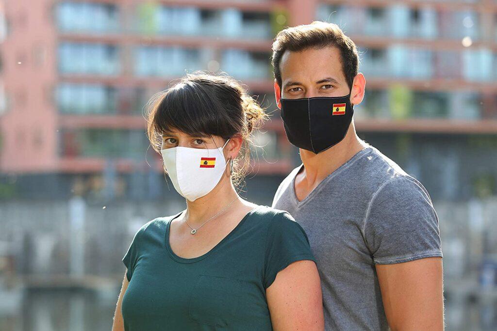 Mascarillas bandera de España