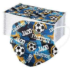 Mascarilla fútbol con balones de fútbol dibujados
