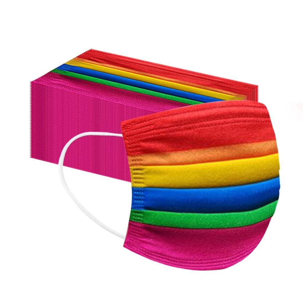 Mascarilla multicolor con 6 colores