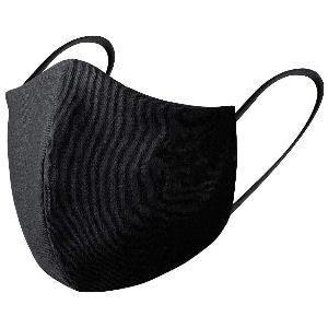 Mascarilla negra de tela reutilizable