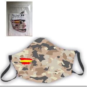 Mascarilla reutilizable militar bandera de españa