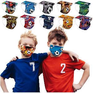Mascarillas de futbol para niños con balones de fútbol