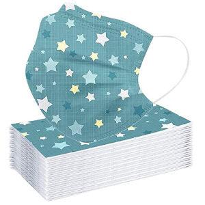 Mascarillas desechables con estrellas