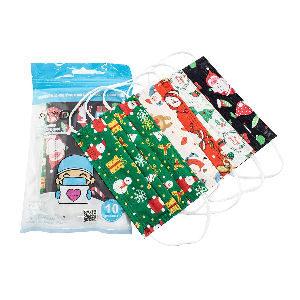 Mascarillas desechables de navidad para niños
