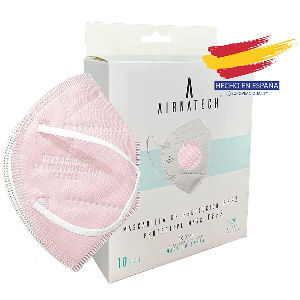 Mascarillas ffp2 rosas, packs de 10 mascarillas homologadas hechas en España con certificado EN149 2001A1 2009