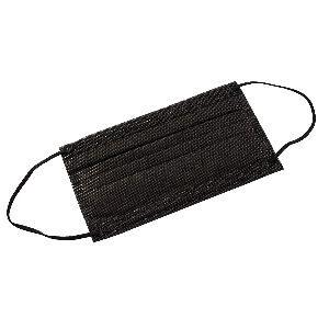Mascarillas higiénicas negras desechables, con 3 capas de filtración, pack de 10 unidades