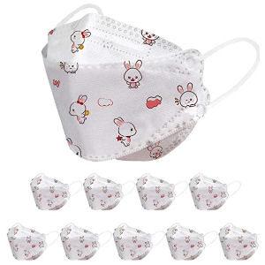 Mascarillas infantiles con conejos, pack de 10 unidades desechables
