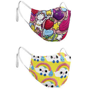 Mascarillas infantiles reutilizables de tela para niños