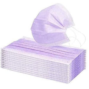 Mascarillas lilas, pack de 50 unidades desechables