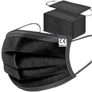 Mascarillas negras desechables para adultos, pack de 200 unidades