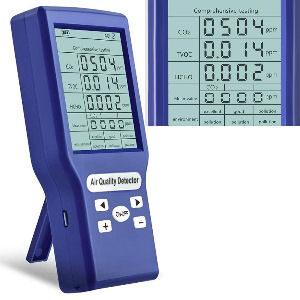 Medidor detector de monóxido de Carbono, mide el y analiza la calidad del aire