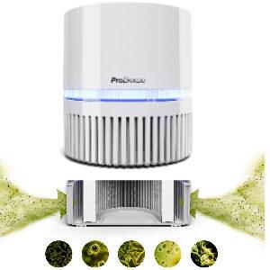 Mini filtro HEPA con ionizador, purificador de aire para el hogar