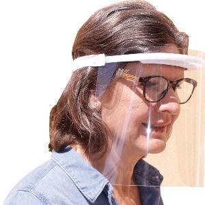 Pantallas protectores faciales, pack de 10 viseras transparentes