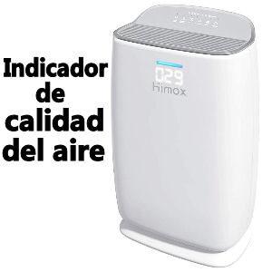 Purificador de aire con filtro HEPA con indicador de calidad del aire