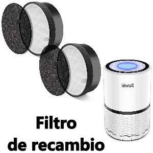 Purificador de aire con filtro de recambio