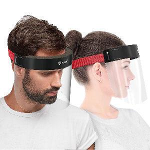 Visera de protección facial antivaho con acolchado en la frente