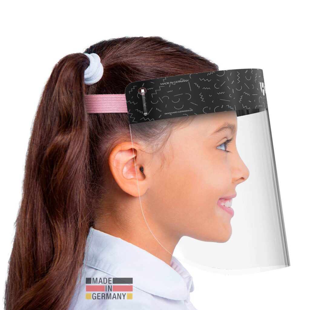 Visera facial para niñas rosa