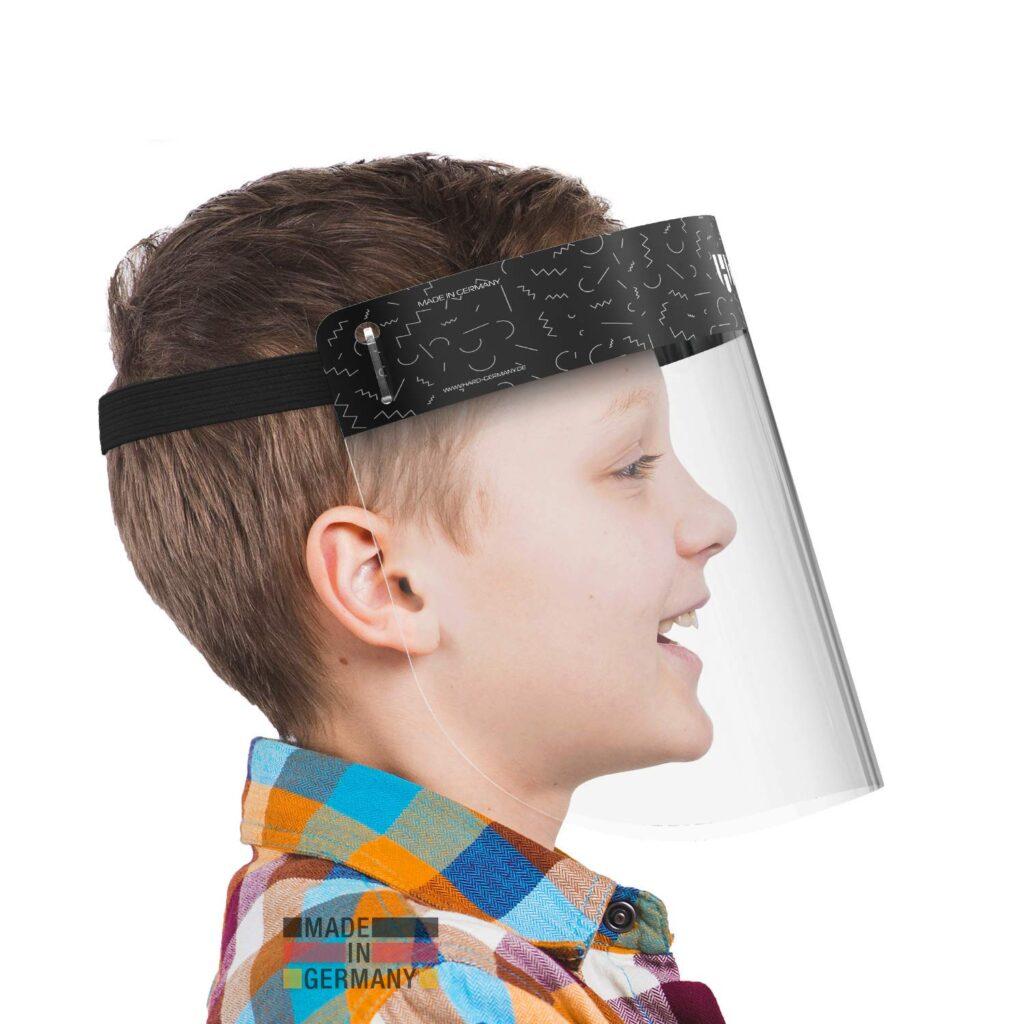 Viseras faciales negras para niños
