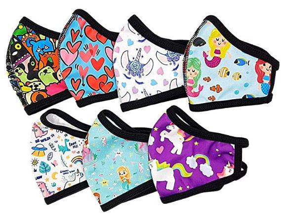 pack de mascarillas de tela lavables para niños